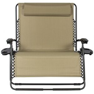 person chair best choiceproducts huge folding person gravity chair double wide patio lounger with cup holders