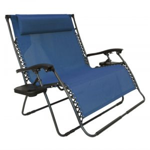 person chair qxl db bliss two person outdoor zero gravity chair with cup trays denim blue
