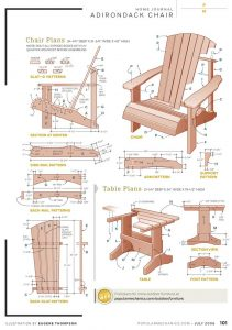 adirondack chair plans popular mechanics chair w table
