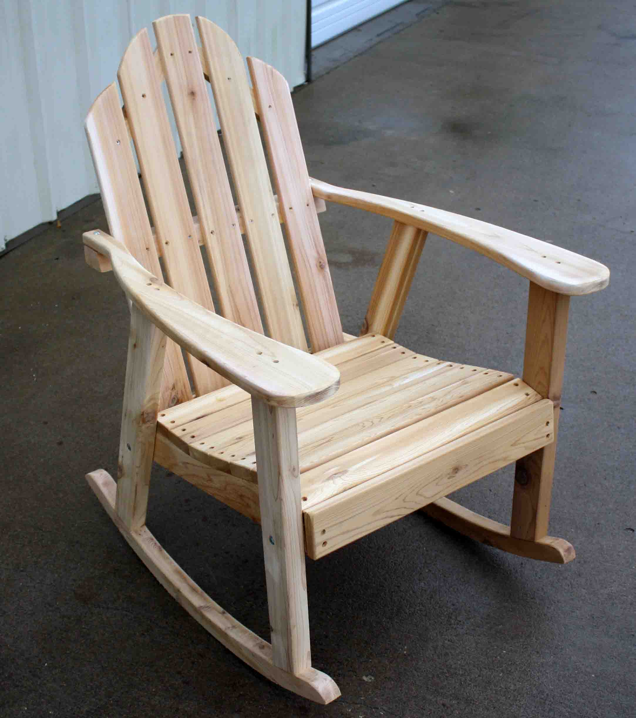 adirondack rocking chair plans