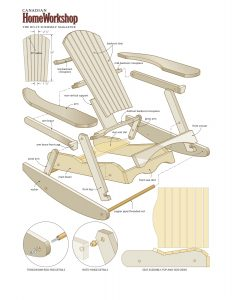 adirondack rocking chair plans muskoka rocker