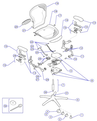 Aeron Chair Parts Top Blog For Chair Review