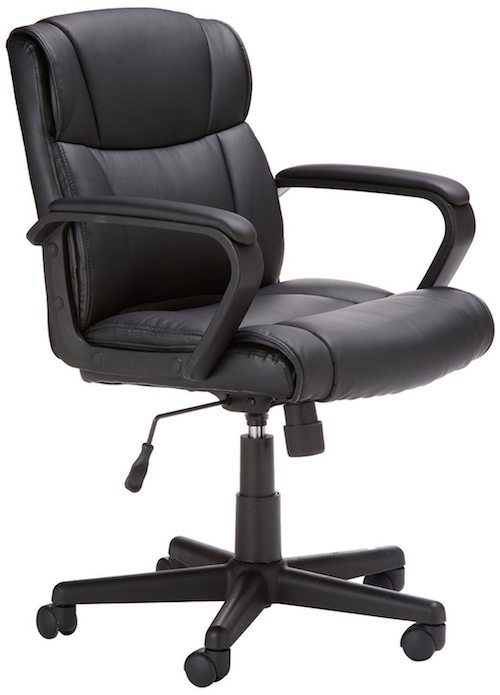 amazon computer chair amazonbasics mid back leather office chair