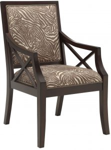 animal print accent chair