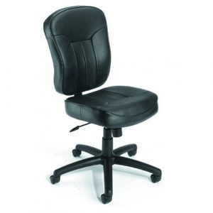 armless desk chair b