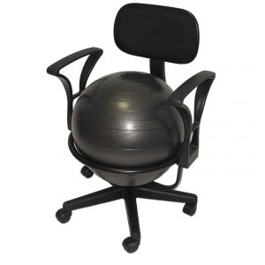 ball chair for office aeromat black deluxe ergo ball chair