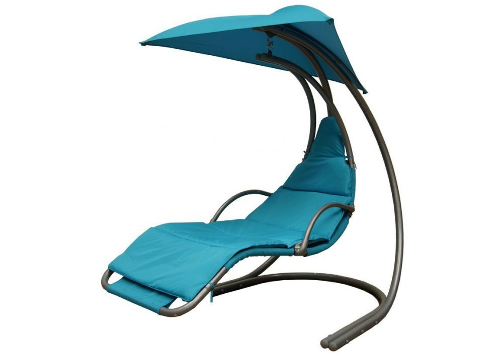 beach chair with umbrella attached