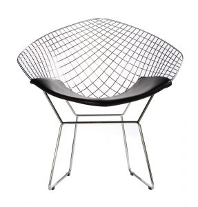 bertoia diamond chair bertoia diamond wire chair black seat pad