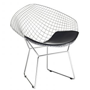 bertoia diamond chair bertoia wire diamond chair black seat pad