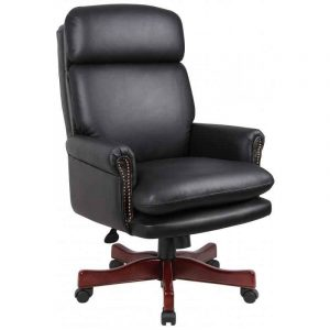 black leather office chair boss b black leather office chair