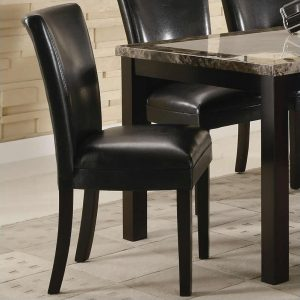 black upholstered dining chair l