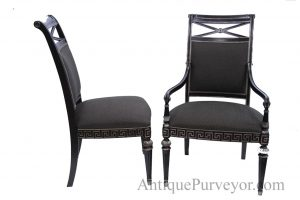 black upholstered dining chair black silver painted transitional upholstered dining room chairs