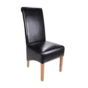 black upholstered dining chair s black leather dining chair