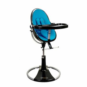 bloom fresco high chair fresco loft high chair black bermuda blue bloom