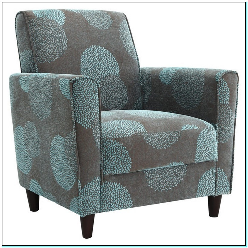 blue accent chair with arms