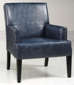 blue leather chair blue leather chair