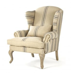 blue striped chair product