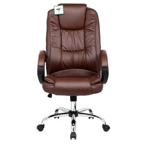 brown leather office chair image