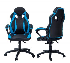 budget gaming chair merax racing style angle