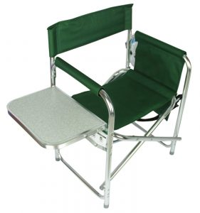 camping chair with side table $