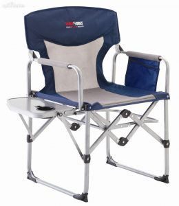 camping chair with side table gc