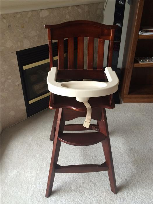 carter wood high chair