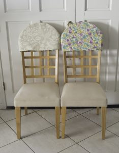 chair back covers reversible padded chair back covers