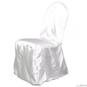chair covers and linens white satin fitted