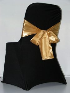 chair covers and sashes black cover gold sash