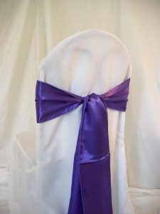 chair covers and sashes purple sash