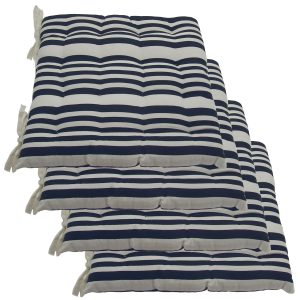 chair cushions with ties unavystripe