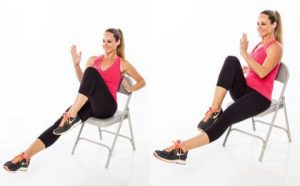 chair exercise for abs chair running