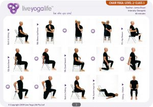 chair exercise for elderly chair yoga level class
