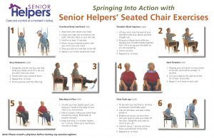 chair exercise for elderly spring into action senior exercise poster page