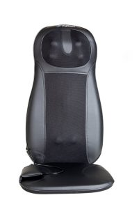 chair massage pad office best massage cushion for chair pad black grey colored leather material cover square base three massage spotsimple design