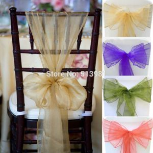 chair sash for wedding pcsnew hotel wedding supplies organza chair cover sashes good quality table runner wedding party cover