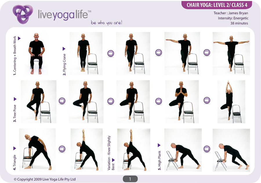 chair yoga poses for seniors
