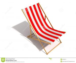 chaise lounge beach chair striped red white beach chair white background