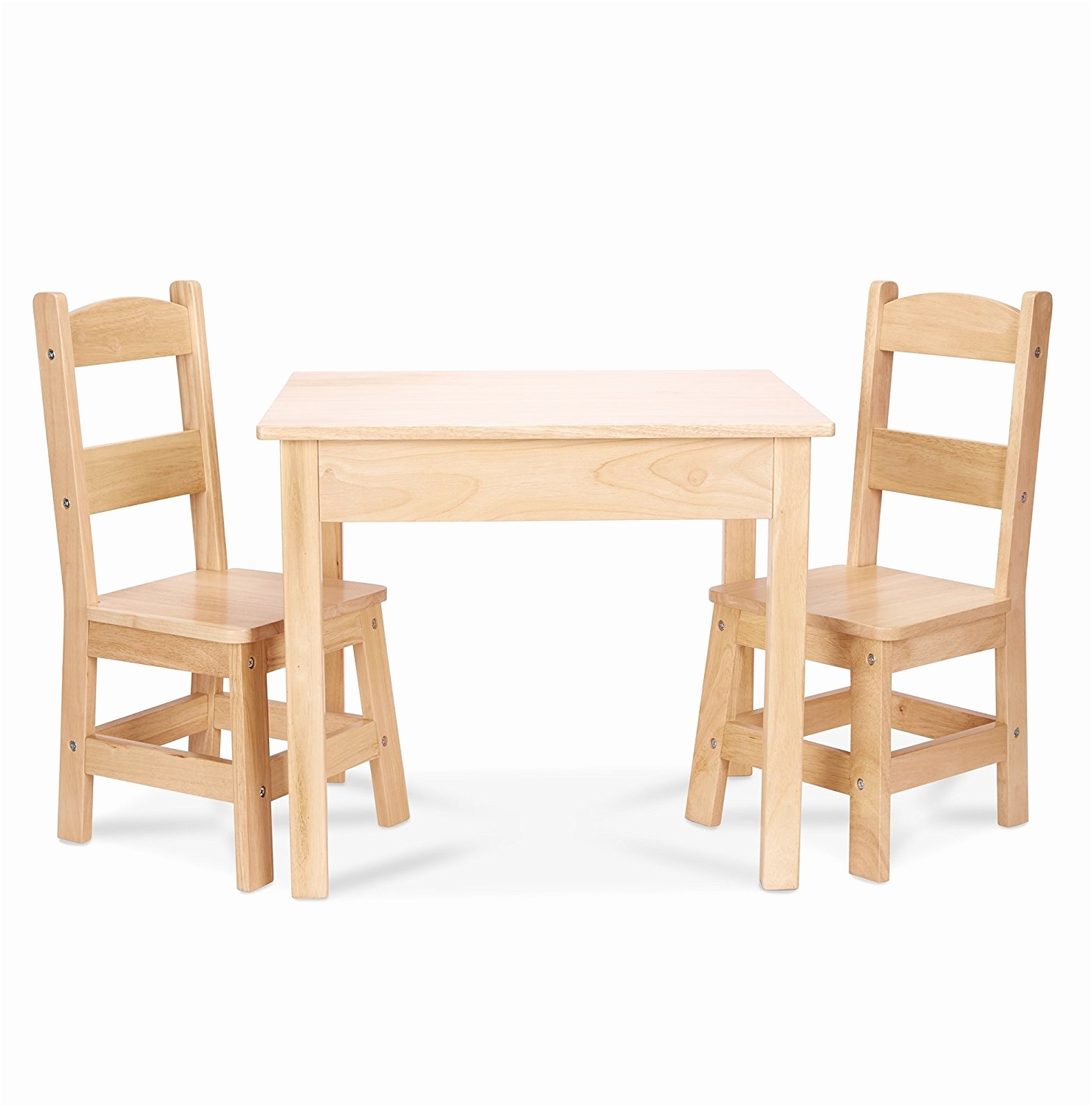 child wood table and chair set