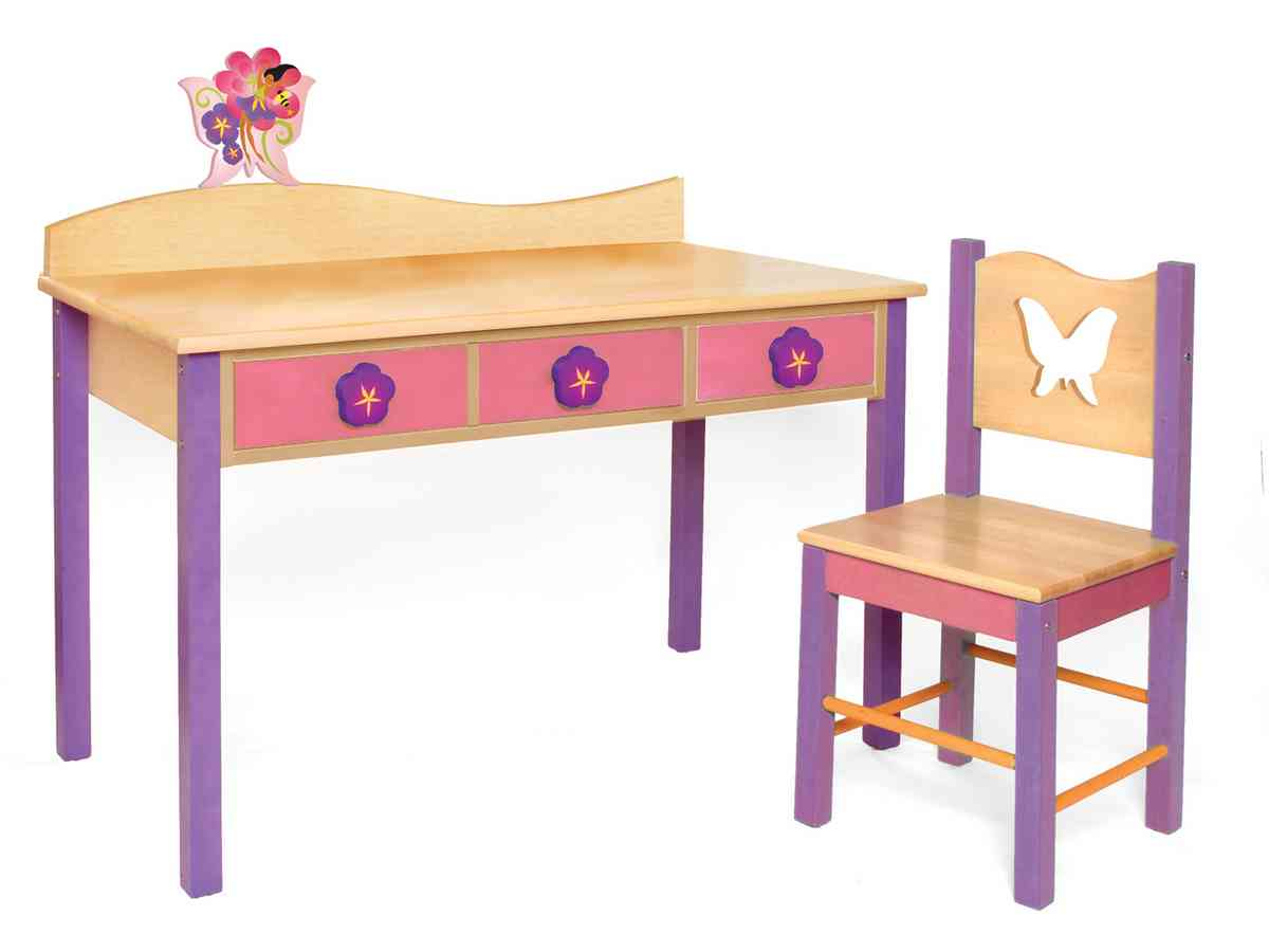 childrens desk and chair set