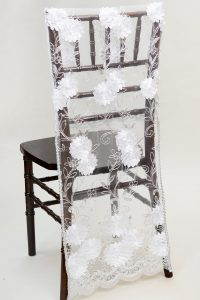 chivari chair cover chair cover net floral white silver