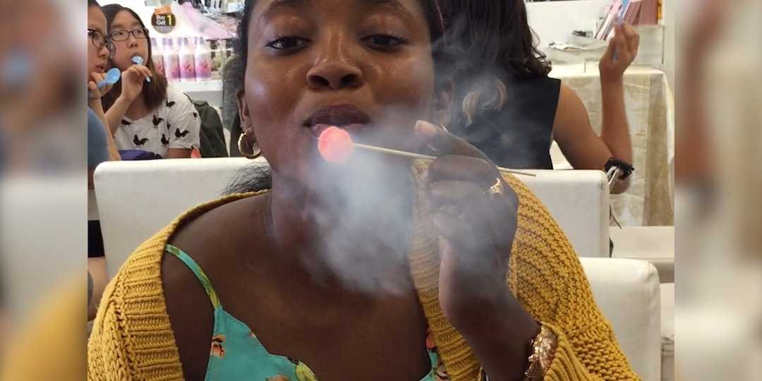 chocolate chair dragon breath an la restaurant invented a dessert that makes it look like youre breathing out smoke