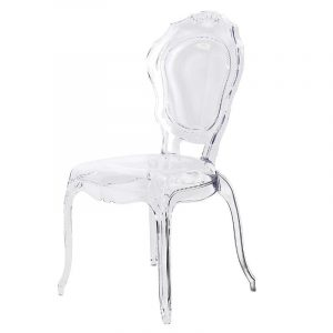 clear acrylic chair acrylic louis style dining chair clear p