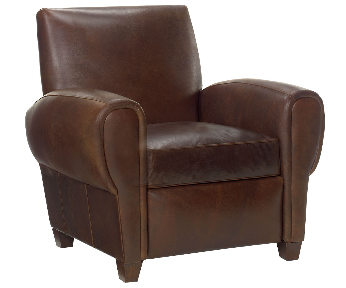club chair recliner zachary designer style reclining club chair in leather