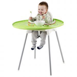 compact high chair hiptidy tot bib and tray kit