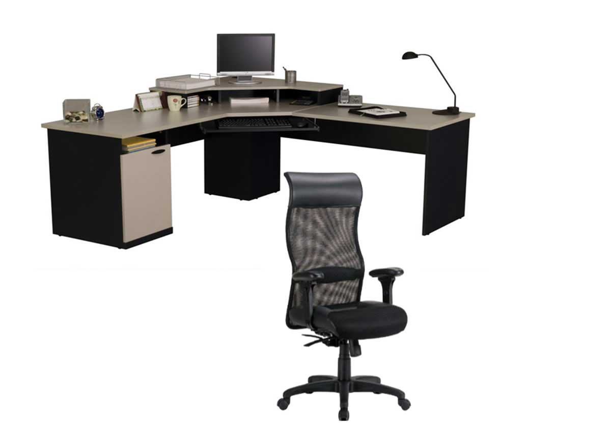 computer desk and chair l shape corner computer desk and ergonomic chair