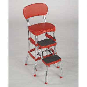 cosco step stool chair red