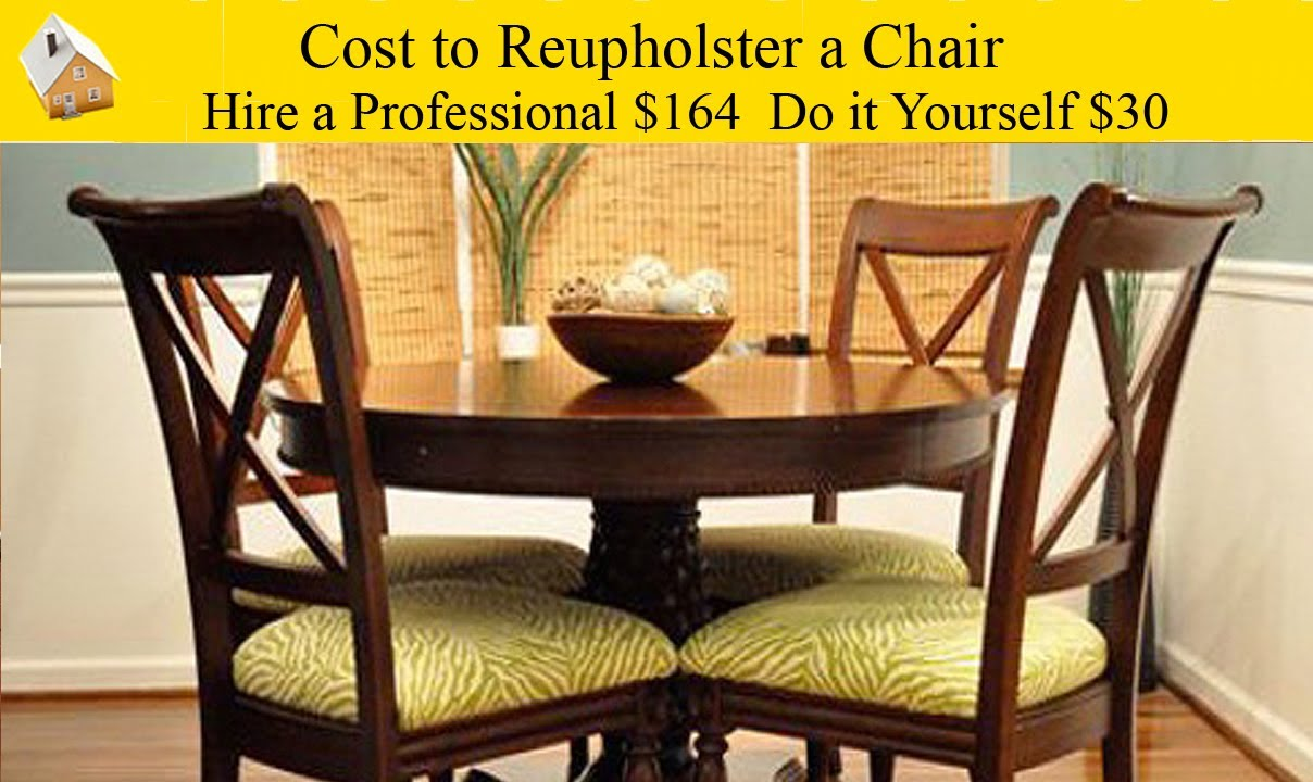 cost to reupholster a chair