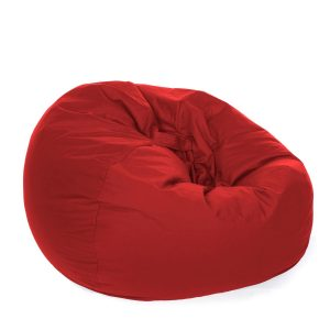 cushion for chair retro beanbag fabric red