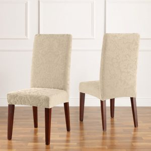 dining chair cover stretchjacdamaskdrcoyster